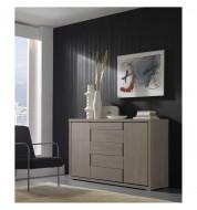 Buffet beige design placage mélaminé imitation chêne blanchi 180.5cm Concept