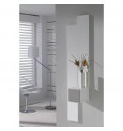 Meuble d'entrée + miroirs et tiroir carré effet chêne clair
