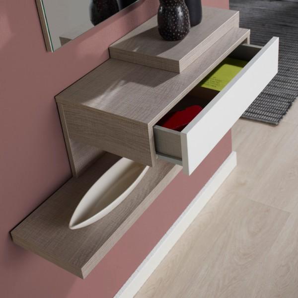 meuble d'entrée design miroir - concept - Meuble D Entree Design