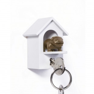 Accroche clé chien marron Qualy