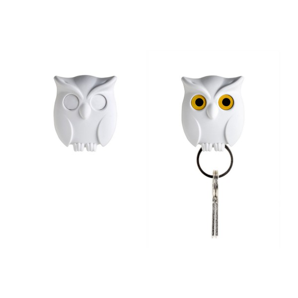 Accroche cl hibou blanc design rangement des cl s for Accroche cle mural design