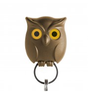 Accroche clé hibou marron Qualy