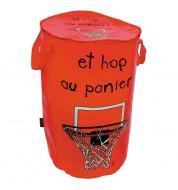Panier à linge rond rouge basket Incidence