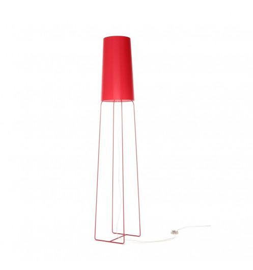 lampadaire rouge pour salon grand luminaire design fraumaier. Black Bedroom Furniture Sets. Home Design Ideas