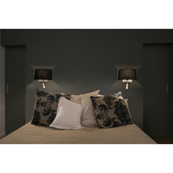 applique blanche liseuse led luminaire design et original faro. Black Bedroom Furniture Sets. Home Design Ideas