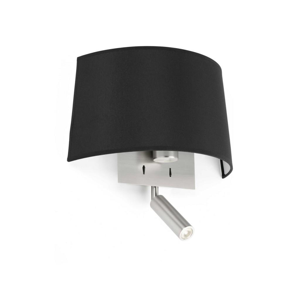 simple applique murale noire volta liseuse led faro with. Black Bedroom Furniture Sets. Home Design Ideas