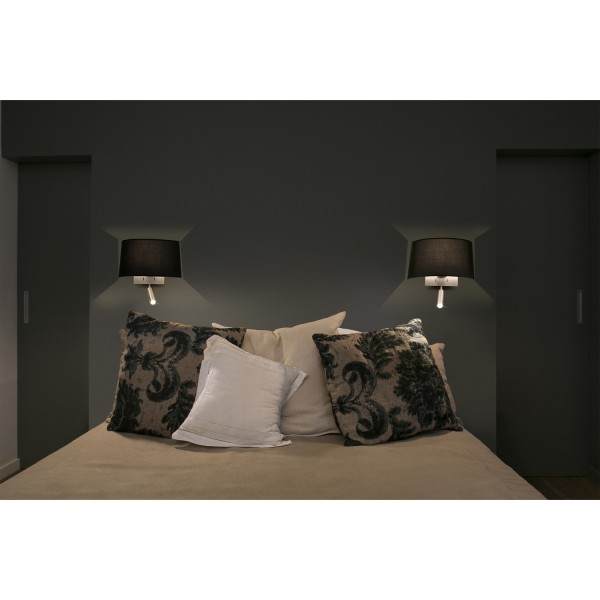 applique murale noire design liseuse led diff rents styles de luminaires faro. Black Bedroom Furniture Sets. Home Design Ideas