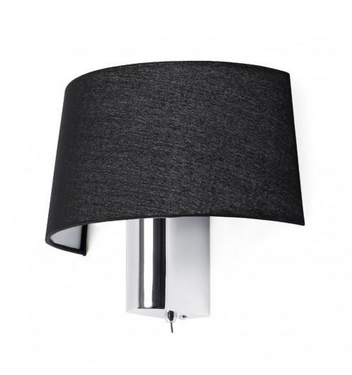 lampe salon applique murale noire. Black Bedroom Furniture Sets. Home Design Ideas