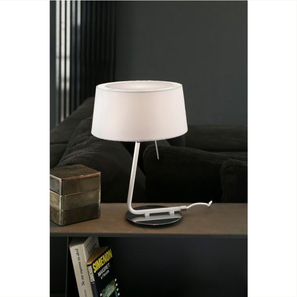 Lampe design blanche luminaire design faro for Lampe de chevet blanche