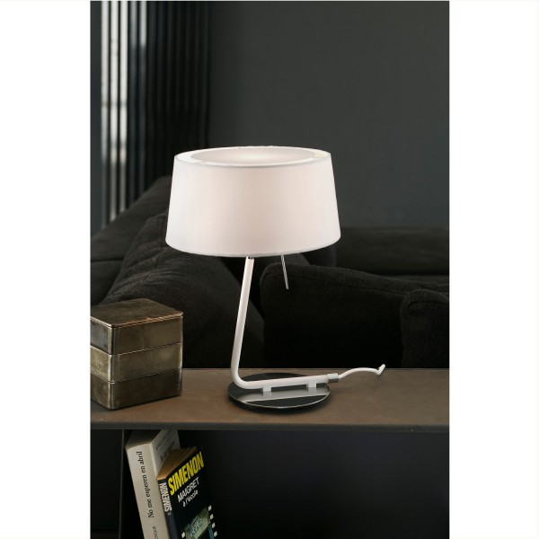 lampe de chevet design noire luminaire espagnol faro. Black Bedroom Furniture Sets. Home Design Ideas