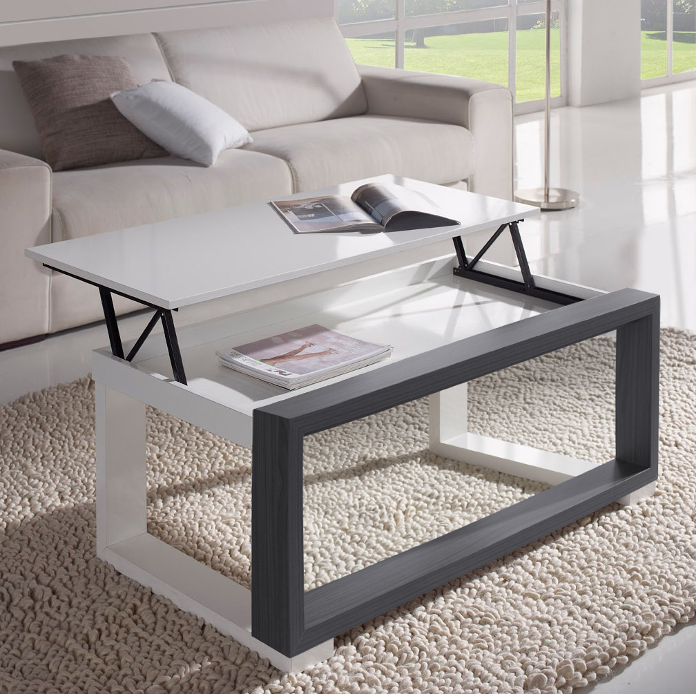 table basse relevable detalle 855 70 gris ouvert d co et. Black Bedroom Furniture Sets. Home Design Ideas