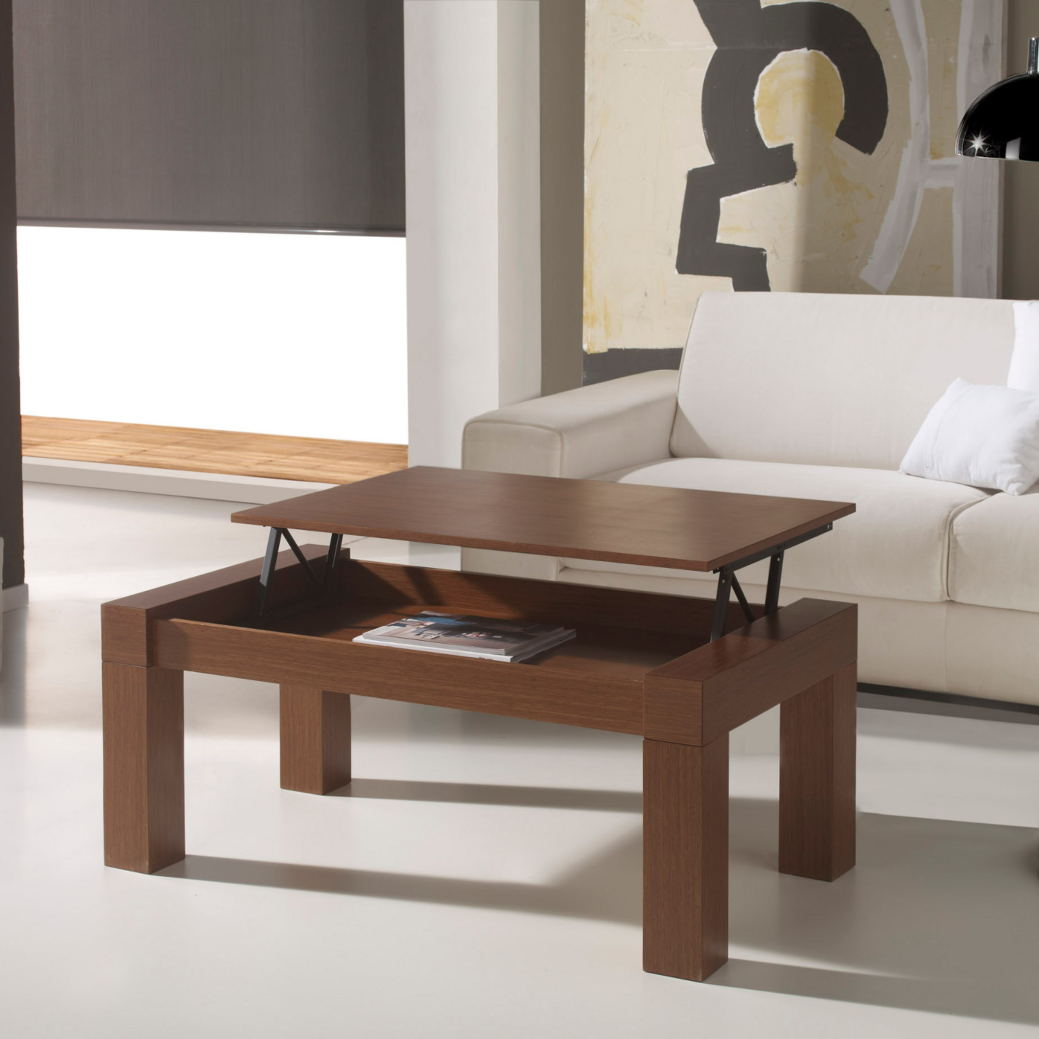 la table basse relevable r volutionne le salon d co et saveurs. Black Bedroom Furniture Sets. Home Design Ideas