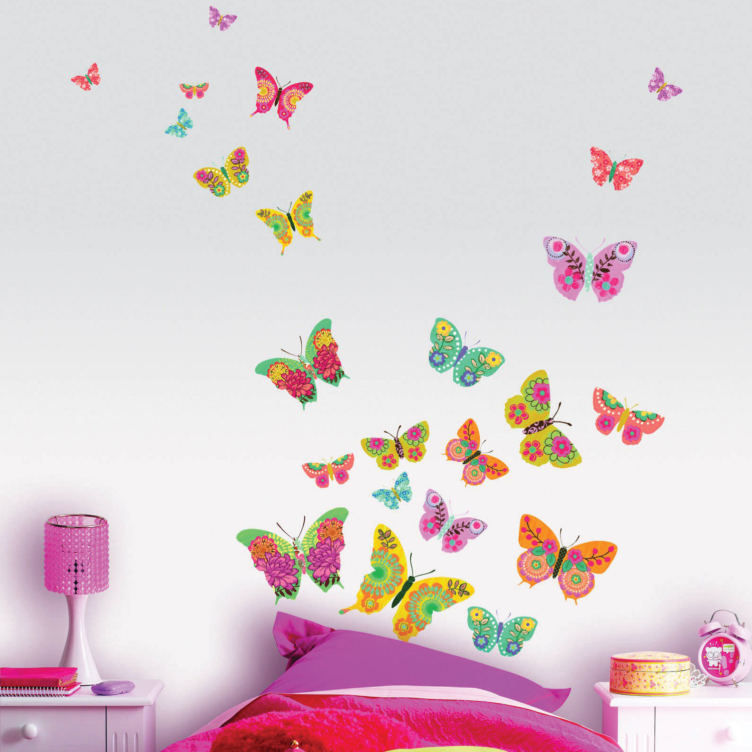 Le stickers une d co facile rapide pas ch re et originale d co et saveurs - Decoration chambre fille papillon ...