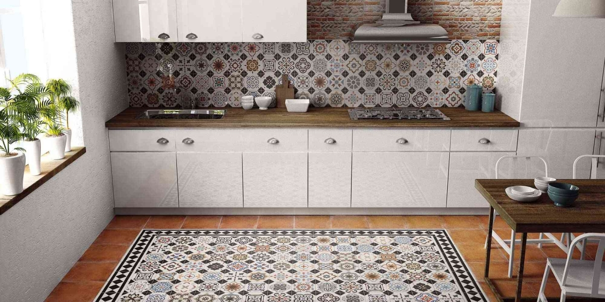 carreaux de ciment cuisine best carreaux de ciment cr dence cuisine credence ukbix with. Black Bedroom Furniture Sets. Home Design Ideas